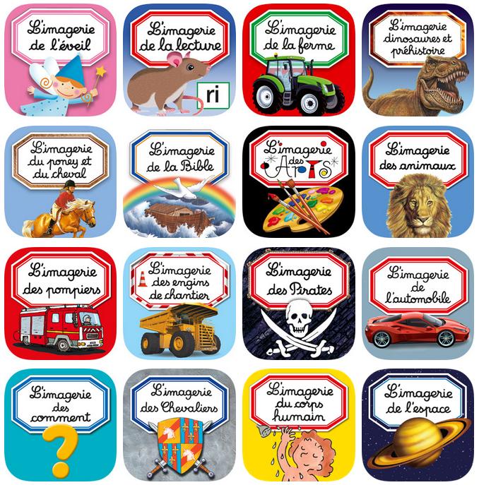Icônes des apps Imageries interactives Fleurus